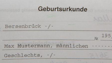 Geburtsurkunde Staatlich Druckerei Deutschland 3
